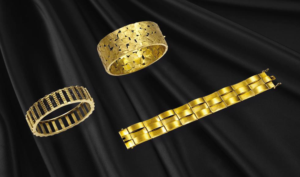 Esclavas y pulseras de oro de la colección Esclavas