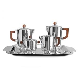 Juego de Café en plata con 5 piezas. Joyerías Barcelona